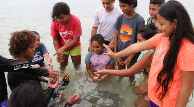 LES ELEVES DE 6ème BILINGUE TAHITIEN AU SECOURS DU CORAIL